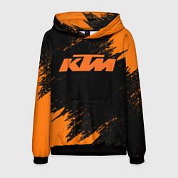 Толстовка-худи мужская KTM цвета 3D-черный — фото 1