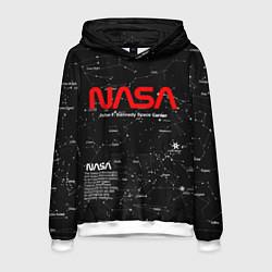 Толстовка-худи мужская NASA цвета 3D-белый — фото 1
