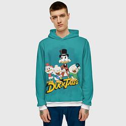 Толстовка-худи мужская Ducktales цвета 3D-белый — фото 2