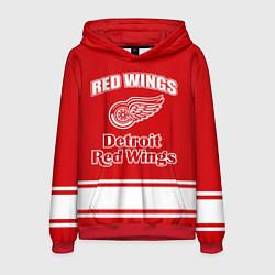 Толстовка-худи мужская Detroit red wings цвета 3D-красный — фото 1