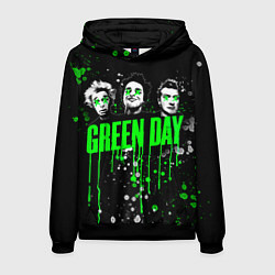 Толстовка-худи мужская Green Day: Acid Colour цвета 3D-черный — фото 1