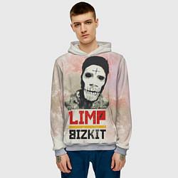 Толстовка-худи мужская Limp Bizkit цвета 3D-меланж — фото 2