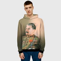 Толстовка-худи мужская Иосиф Сталин цвета 3D-черный — фото 2