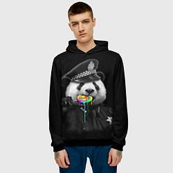 Толстовка-худи мужская Панда с карамелью цвета 3D-черный — фото 2
