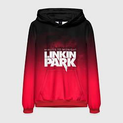 Толстовка-худи мужская Linkin Park: Minutes to midnight цвета 3D-красный — фото 1