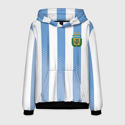 Толстовка-худи мужская Сборная Аргентины: ЧМ-2018 цвета 3D-черный — фото 1