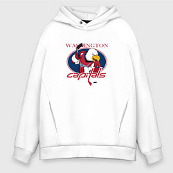 Толстовка оверсайз мужская Washington Capitals Hockey цвета белый — фото 1