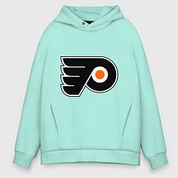 Толстовка оверсайз мужская Philadelphia Flyers цвета мятный — фото 1