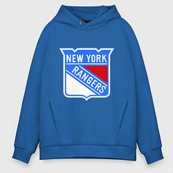 Толстовка оверсайз мужская New York Rangers цвета синий — фото 1