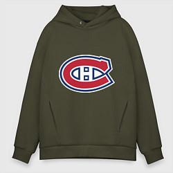 Толстовка оверсайз мужская Montreal Canadiens цвета хаки — фото 1