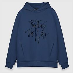 Толстовка оверсайз мужская Pink Floyd цвета тёмно-синий — фото 1