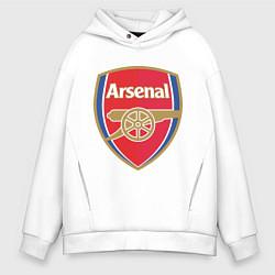 Толстовка оверсайз мужская Arsenal FC цвета белый — фото 1