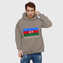 Толстовка оверсайз мужская Азербайджан цвета утренний латте — фото 2
