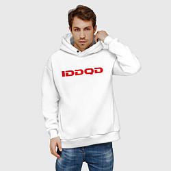 Толстовка оверсайз мужская IDDQD Doom цвета белый — фото 2