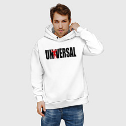 Толстовка оверсайз мужская Universal bodybilding цвета белый — фото 2