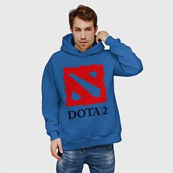 Толстовка оверсайз мужская Dota 2: Logo цвета синий — фото 2