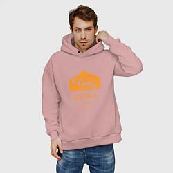 Толстовка оверсайз мужская AS Roma: Autumn Top цвета пыльно-розовый — фото 2