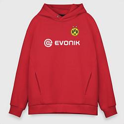Толстовка оверсайз мужская BVB FC: Rois Home 17/18 цвета красный — фото 1