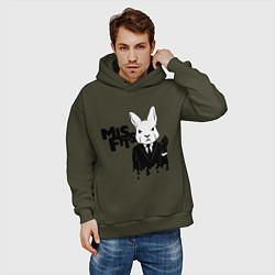 Толстовка оверсайз мужская Misfits Rabbit цвета хаки — фото 2