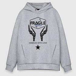 Толстовка оверсайз мужская Fragile Express цвета меланж — фото 1