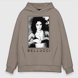Толстовка оверсайз мужская Monica Bellucci: Black цвета утренний латте — фото 1