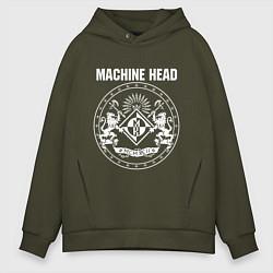 Толстовка оверсайз мужская Machine Head MCMXCII цвета хаки — фото 1