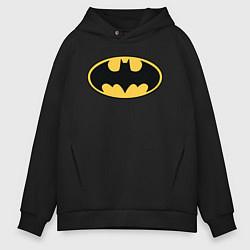 Толстовка оверсайз мужская Batman цвета черный — фото 1
