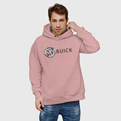 Толстовка оверсайз мужская Buick цвета пыльно-розовый — фото 2