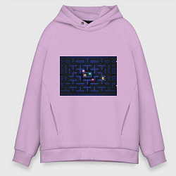 Толстовка оверсайз мужская Pacman цвета лаванда — фото 1