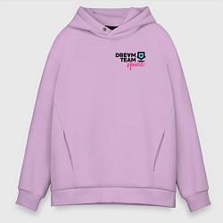 Толстовка оверсайз мужская Dream Team logo цвета лаванда — фото 1