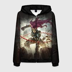 Толстовка 3D на молнии мужская Darksiders Warrior цвета 3D-черный — фото 1