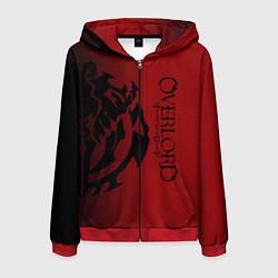 Толстовка 3D на молнии мужская Overlord цвета 3D-красный — фото 1