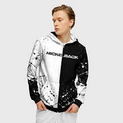 Толстовка 3D на молнии мужская Nickelback цвета 3D-черный — фото 2