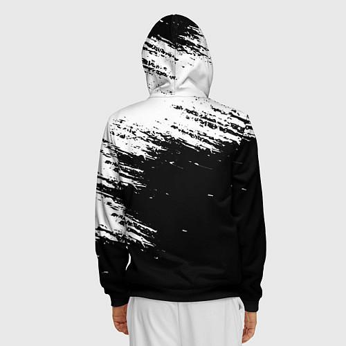 Мужская толстовка на молнии ВЕДЬМАК / 3D-Черный – фото 4