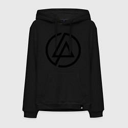 Толстовка-худи хлопковая мужская Linkin Park: Sybmol цвета черный — фото 1