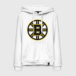 Толстовка-худи хлопковая мужская Boston Bruins цвета белый — фото 1