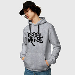 Толстовка-худи хлопковая мужская Wu-Tang - Rebel Ins цвета меланж — фото 2