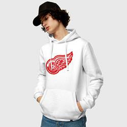 Толстовка-худи хлопковая мужская Detroit Red Wings: Pavel Datsyuk цвета белый — фото 2