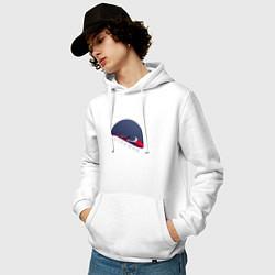 Толстовка-худи хлопковая мужская Starman цвета белый — фото 2