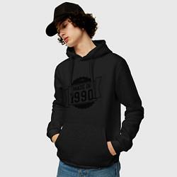 Толстовка-худи хлопковая мужская Made in 1990 цвета черный — фото 2