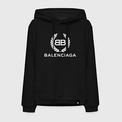 Толстовка-худи хлопковая мужская Balenciaga Fashion цвета черный — фото 1