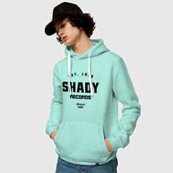 Толстовка-худи хлопковая мужская Shady records цвета мятный — фото 2