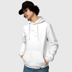 Толстовка-худи хлопковая мужская Kali Linux цвета белый — фото 2