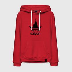 Толстовка-худи хлопковая мужская Saiyan цвета красный — фото 1