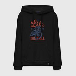 Толстовка-худи хлопковая мужская My Life is Going Downhill цвета черный — фото 1