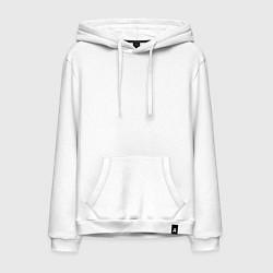 Толстовка-худи хлопковая мужская PANTERA цвета белый — фото 1