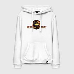 Толстовка-худи хлопковая мужская Mortal Kombat цвета белый — фото 1