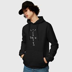Толстовка-худи хлопковая мужская TRAVIS SCOTT цвета черный — фото 2