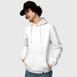 Толстовка-худи хлопковая мужская Санкт-Петербург EVLTN цвета белый — фото 2