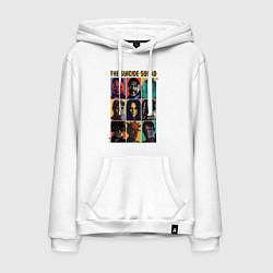 Толстовка-худи хлопковая мужская The Suicide Squad цвета белый — фото 1